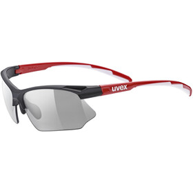 UVEX Sportstyle 802 V Glasses, black red white/smoke